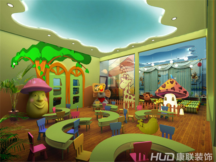 绿色大自然的幼儿园设计