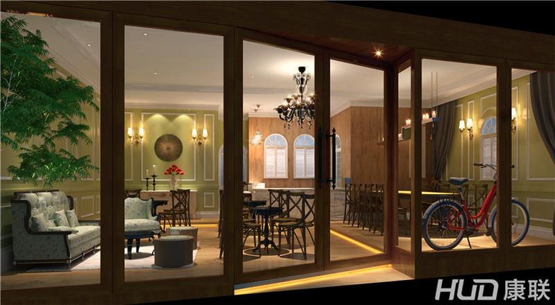 诺焙贸易咖啡店设计--门头效果图