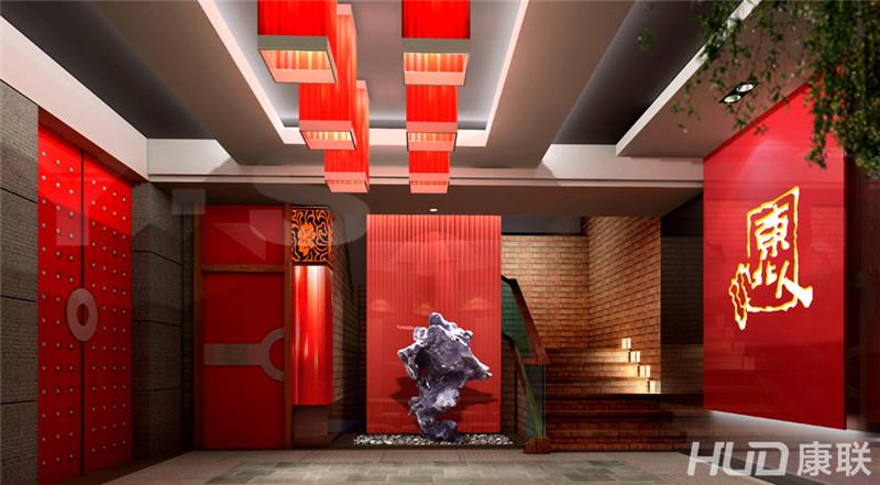 东北人餐厅设计大厅入口装修效果图-东北人餐厅装修设计案例