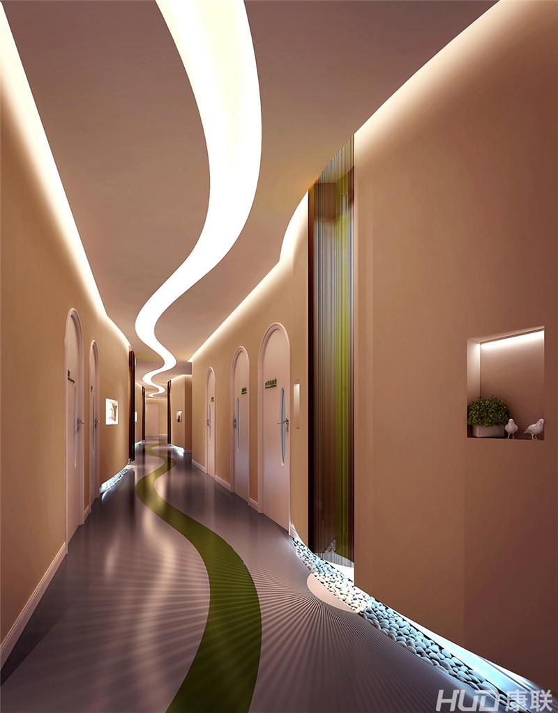 阳光综合门诊美容整形医院设计效果图(整形科过道)