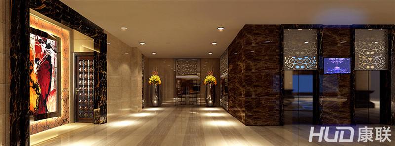 新垦酒店装饰设计过道效果图