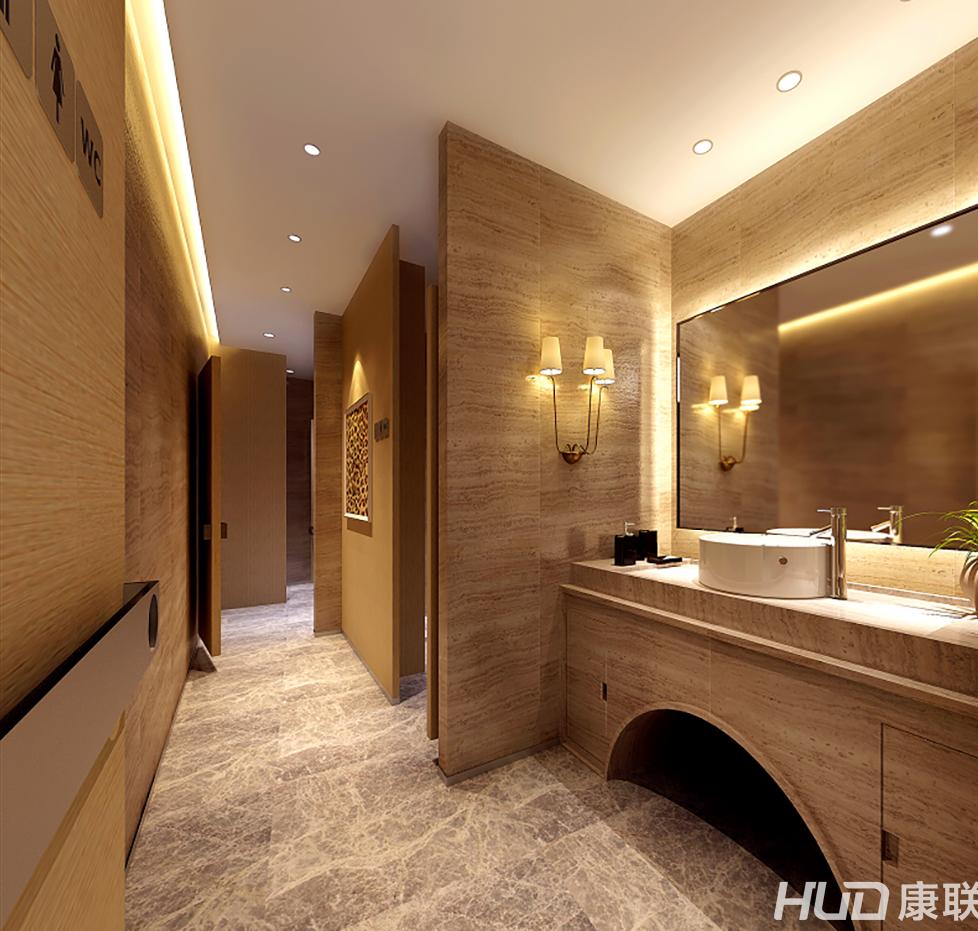 广田丰办公楼装修——洗手间装修效果图-广田丰办公室装修设计案例