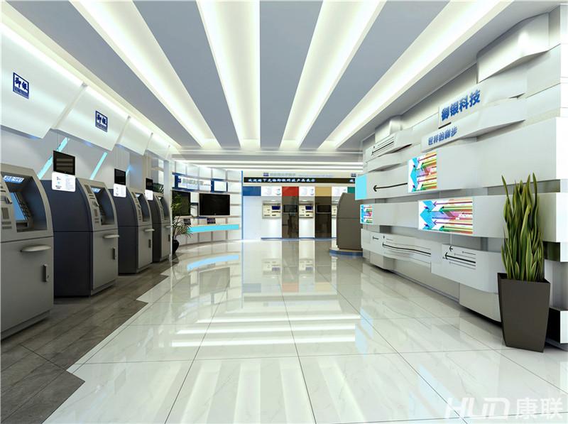 御银科技ATM展厅装修设计效果图二-御银科技展厅装修设计,展厅