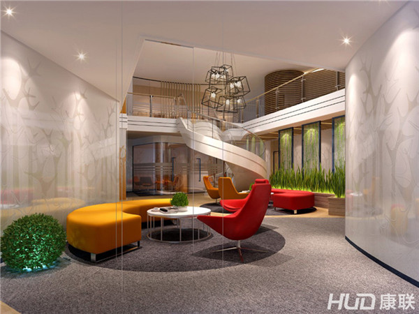 办公室设计形象墙造型:个性的造型设计,可以给客户留下深刻的印象