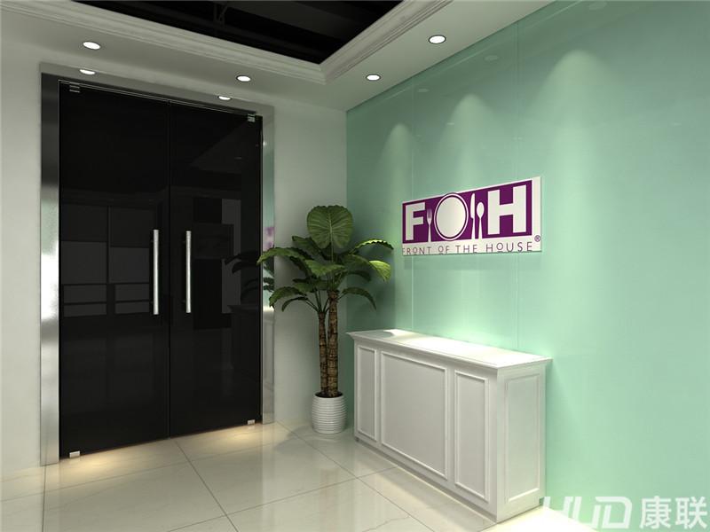 越秀城市广场办公室设计装修--前厅入口效果图