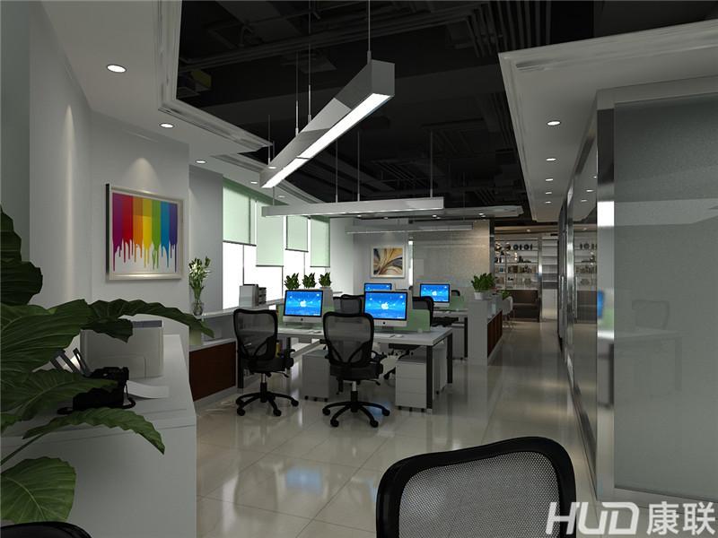 越秀城市广场办公室设计装修--办公区效果图