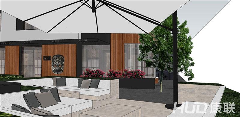 斐济餐厅设计露天餐区设计效果图3