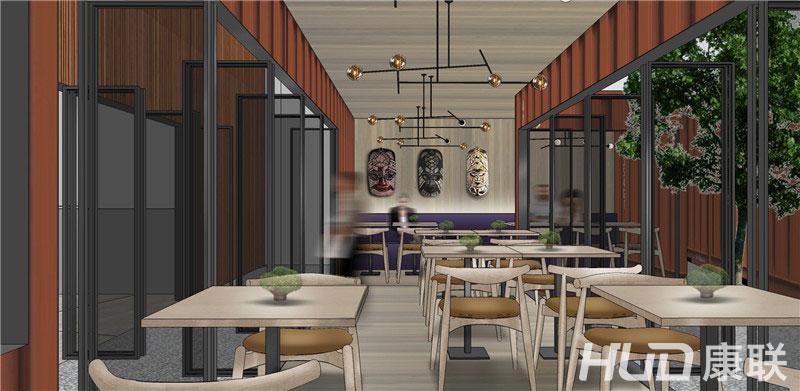 斐济餐厅室内设计效果图