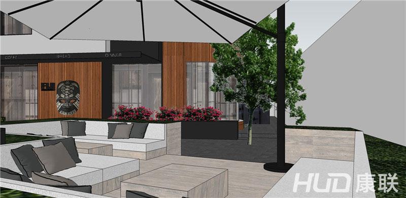 斐济餐厅设计露天餐区设计效果图1