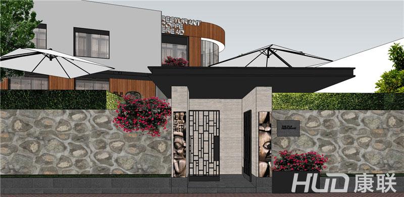 斐济餐厅设计门面设计效果图