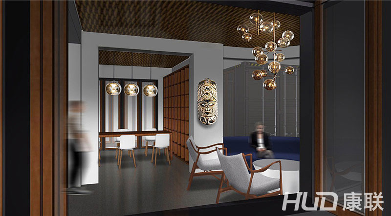 斐济餐厅大堂设计效果图