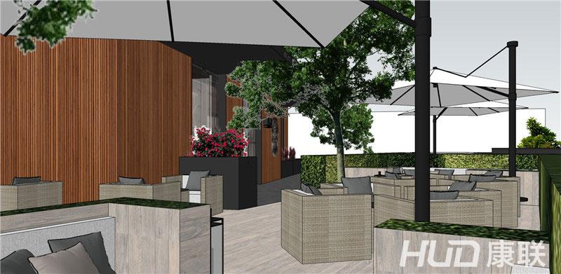 斐济餐厅设计露天餐区设计效果图6