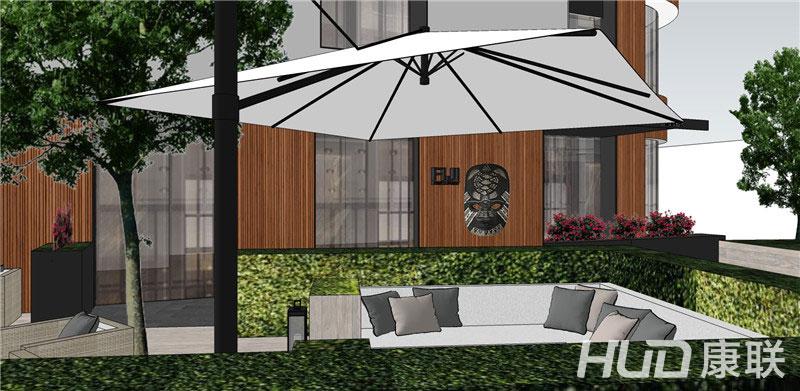 斐济餐厅设计露天餐区设计效果图5