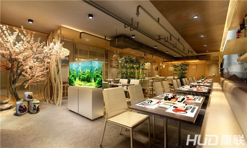 渔米寿司店装修设计--用餐区效果图
