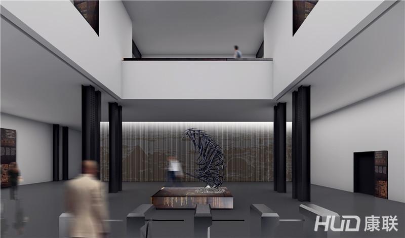 华侨博物馆设计首层大堂效果图