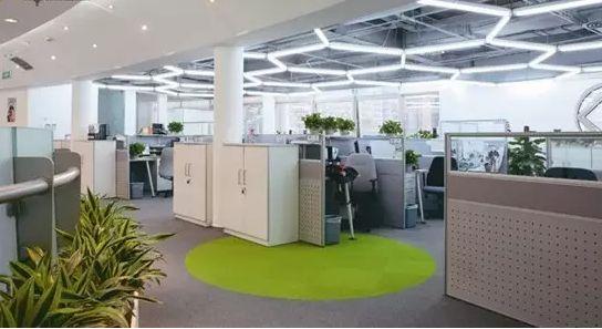 绿色环保设计主题的办公室装修